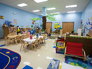 Colorful daycare room