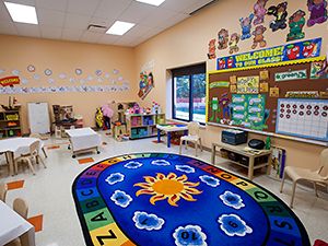Daycare room with plenty of activities