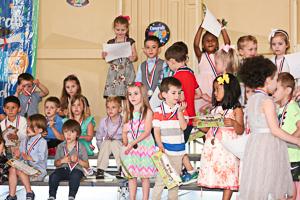 Happy preschool graduates