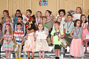 Graduates of preschool gathered