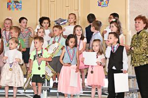 Group of preschool graduate
