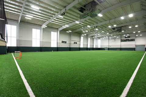 Fieldhouse soccer field corner view