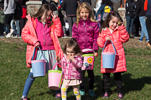Kids with Easter baskets