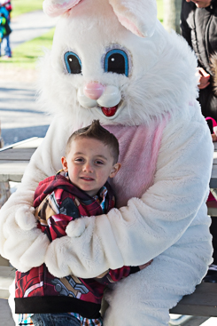 Happy kid with Easter bunny