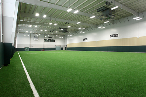 Turf fieldhouse view