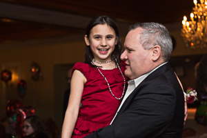 Smiling daughter with her father