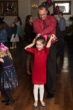 Dance moves by daughter and father