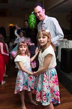 Happy family at the father daughter dance