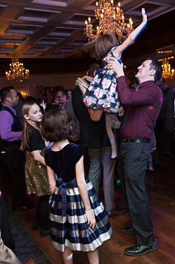 Dancers at the father daughter dance
