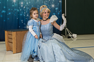 Princesses posing for a photo