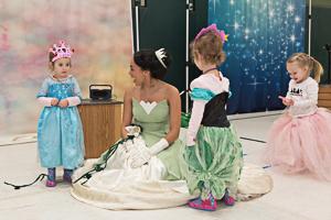 Kids talking to princess