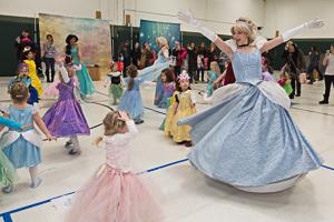 Kids dancing in costume