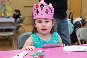 Happy child with crown
