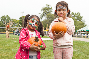Pumpkins and face painting