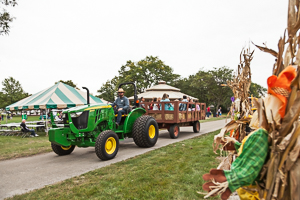 Tractor ride for Fall gathering