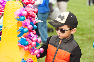 Child with enjoying exhibit at the park