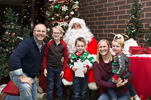 Family photo with Santa