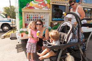 Happy kids getting ice cream