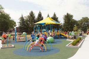Full playground at the park