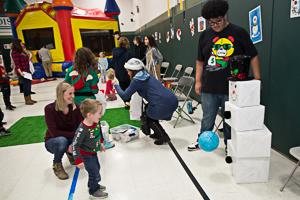 Kids playing Christmas game
