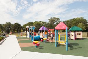 Park full of kids