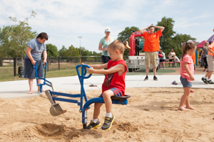 Digging tool at the playground