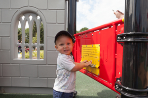 Child playing with toy at the park