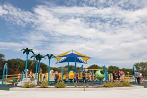 Playground and sky view