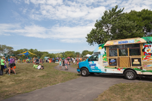 Food truck at the park