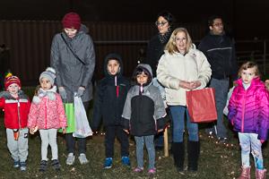 Kids gathered for Christmas event