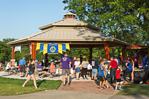 Pavilion at park during event