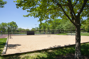 Volleyball courts sand