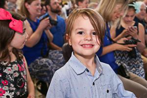 Happy kid smiling