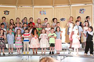 Preschool graduates being recognized