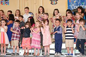 Group of preschool graduates